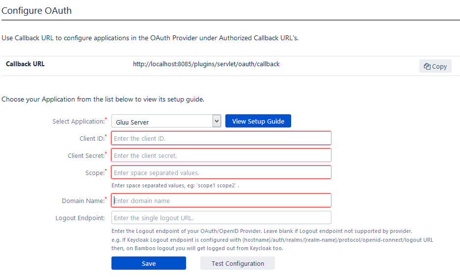 OAuth / OpenID Single Sign On (SSO) into Bamboo Service Provider, Select Okta Application
