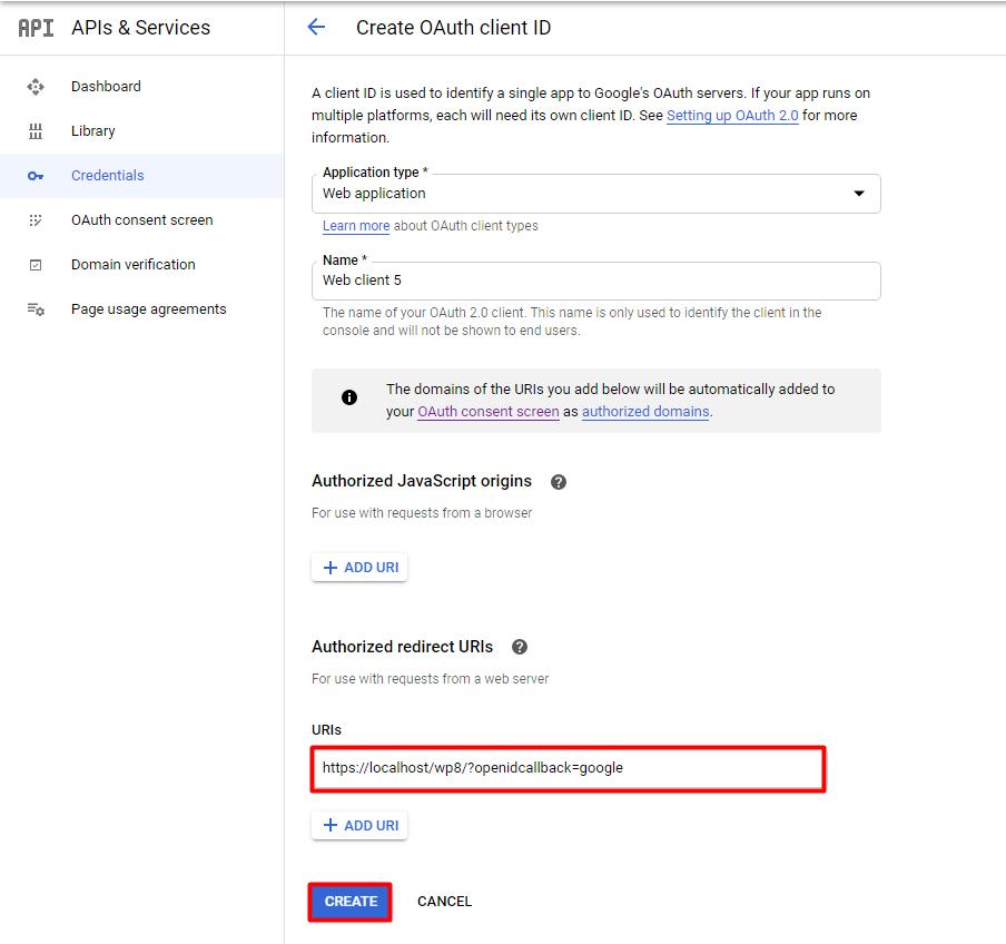 Google callback
