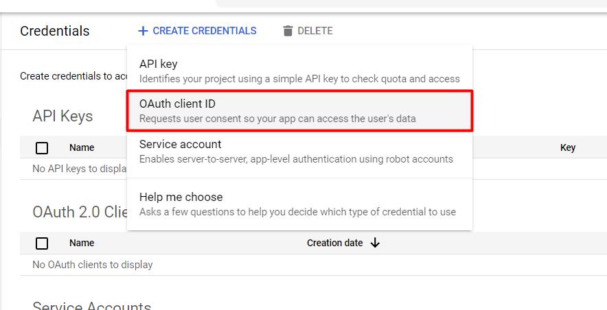 Google ClientID