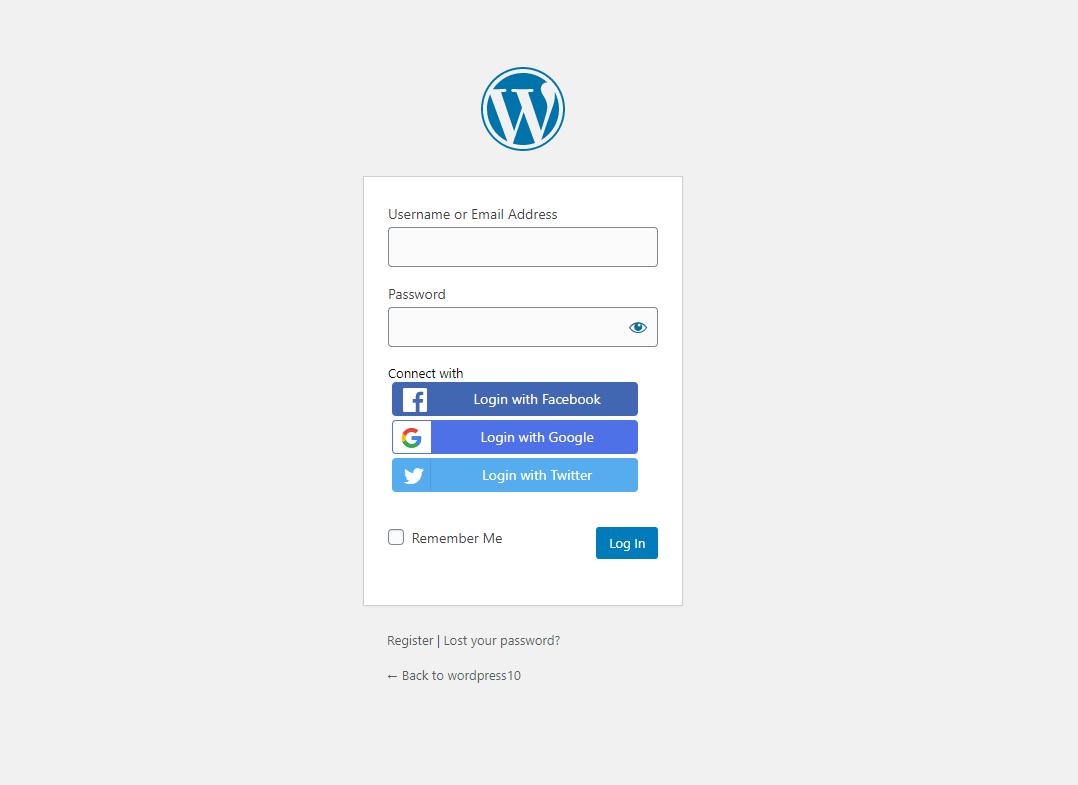 social login miniorange logo disappear option