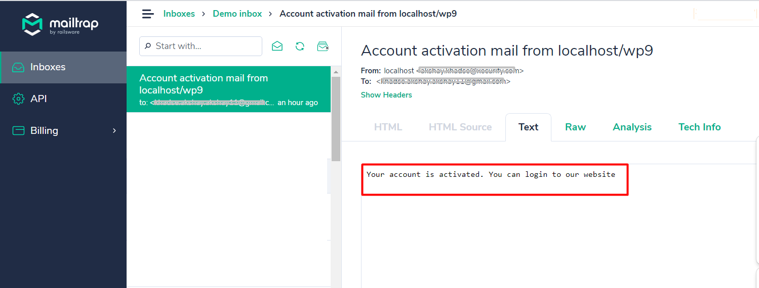 social login successfully activated