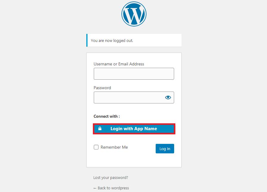 wordpress oauth client plugin sso : login button