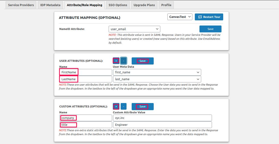 attribute mapping freshdesk as sp