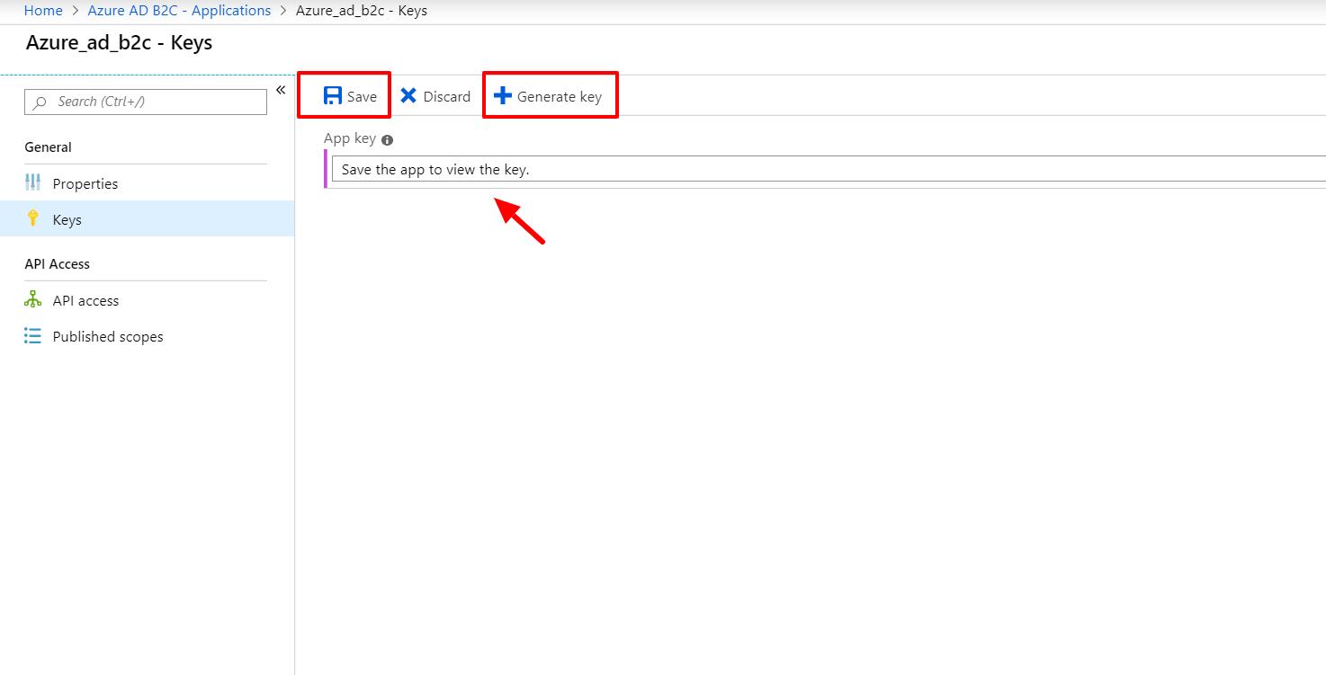 OAuth/OpenID/OIDC Single Sign On (SSO), AzureB2C SSO Login Generate Key