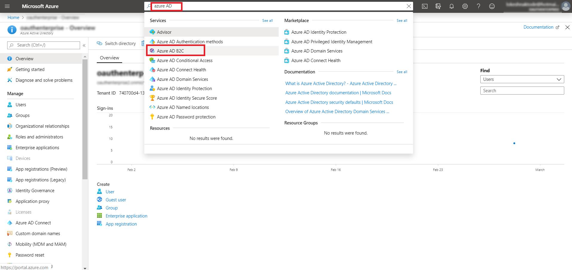 OAuth/OpenID/OIDC Single Sign On (SSO), AzureB2C SSO Login Azure AD B2C.png
