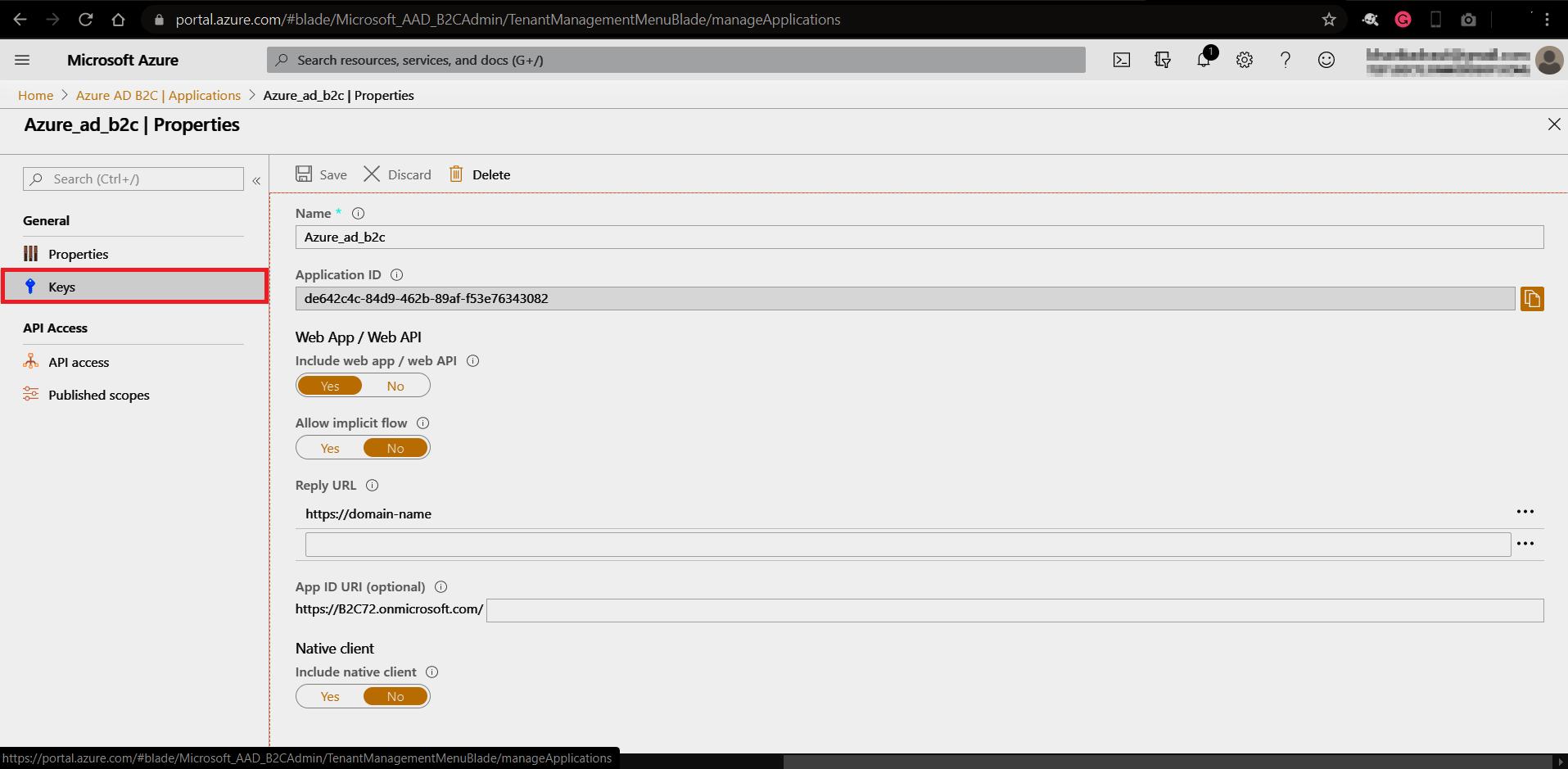 OAuth/OpenID/OIDC Single Sign On (SSO), AzureB2C SSO Login Application ID