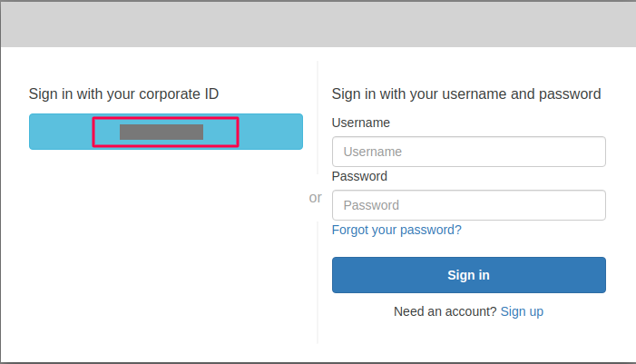 sign in from corporate id aws cognito as sp