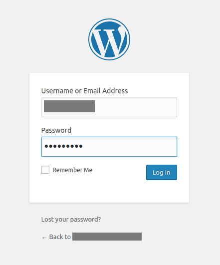 wordpress login canvas as sp