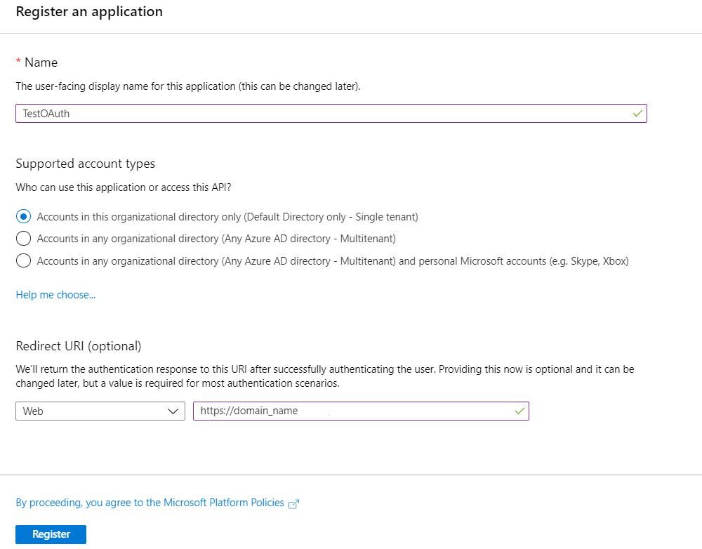 OAuth/OpenID/OIDC Single Sign On (SSO), AzureAD SSO App-Registration