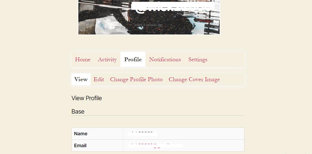 social login profile