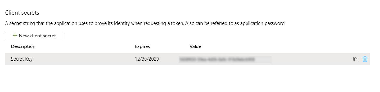 OAuth/OpenID/OIDC Single Sign On (SSO), AzureAD SSO Secret-Key-2