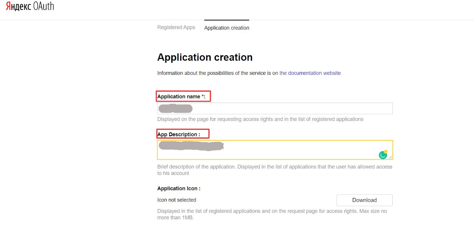 social login yandex user details