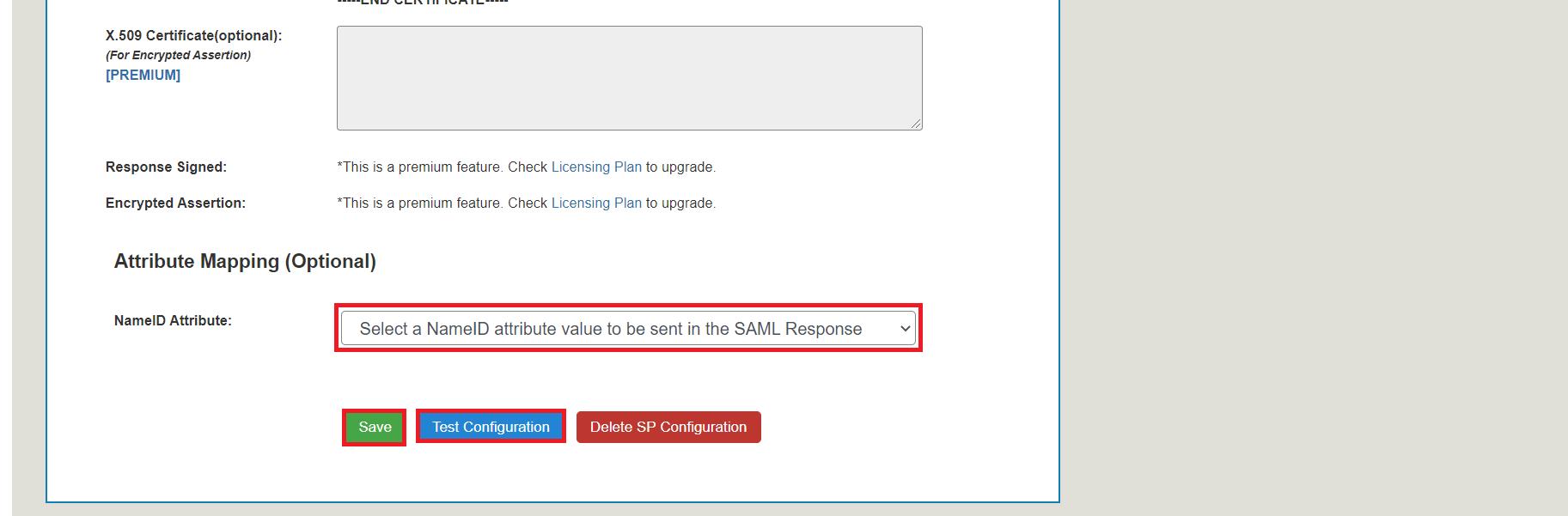 serivice provider setup tab