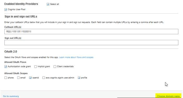 OAuth/OpenID Amazon Cognito Single Sign On SSO AWS Cognito Domain Names