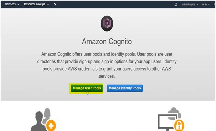 OAuth/OpenID Amazon Cognito Single Sign On SSO AWS Cognito User Pools