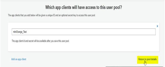 OAuth/OpenID Amazon Cognito Single Sign On SSO Configure AWS Cognito Pool