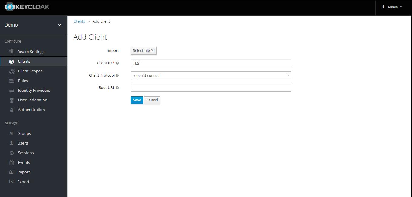 OAuth/OpenID Keycloak Single Sign On SSO client id