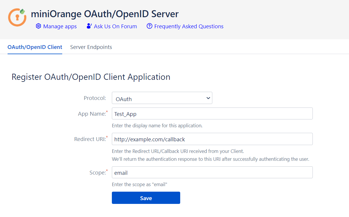Crowd OAuth and OpenID Server - Client App Confliguration