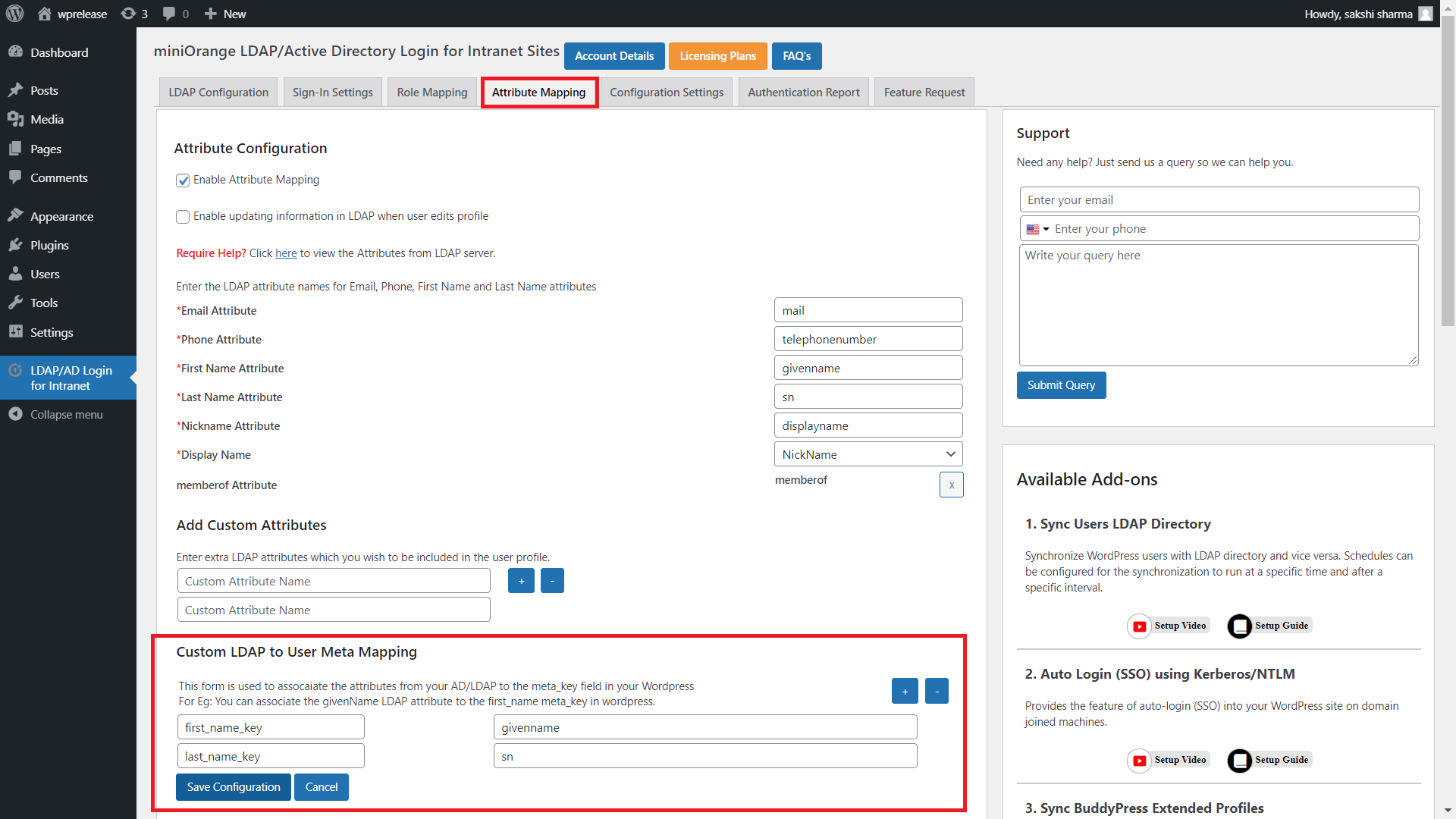 third party user profile integration mapping